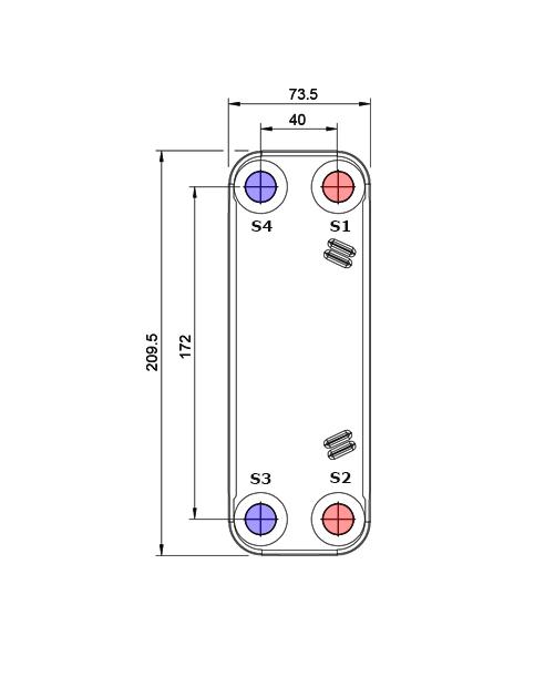 Теплообменник Alfa-Laval CB16, CBH16рис. № 2