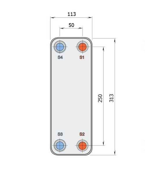 Теплообменник Alfa-Laval CB30, CBH30рис. № 2