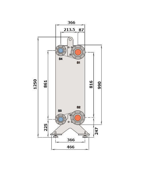 Теплообменник Alfa-Laval CB300, CBH300рис. № 2
