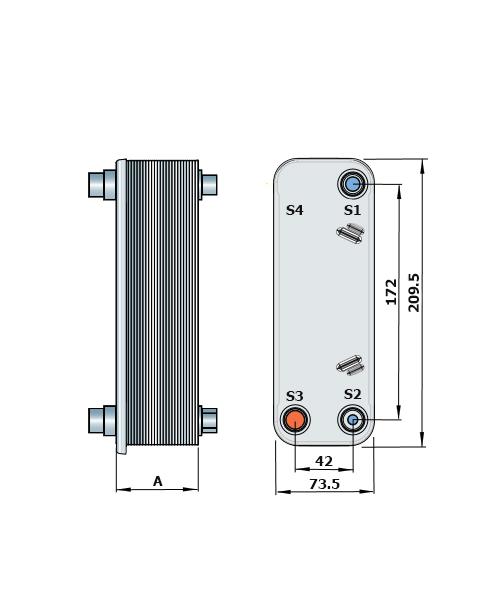 Теплообменник Alfa-Laval CD100рис. № 2