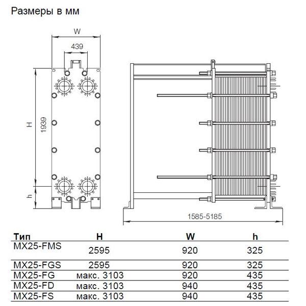 Теплообменник Alfa-Laval MX25рис. № 2