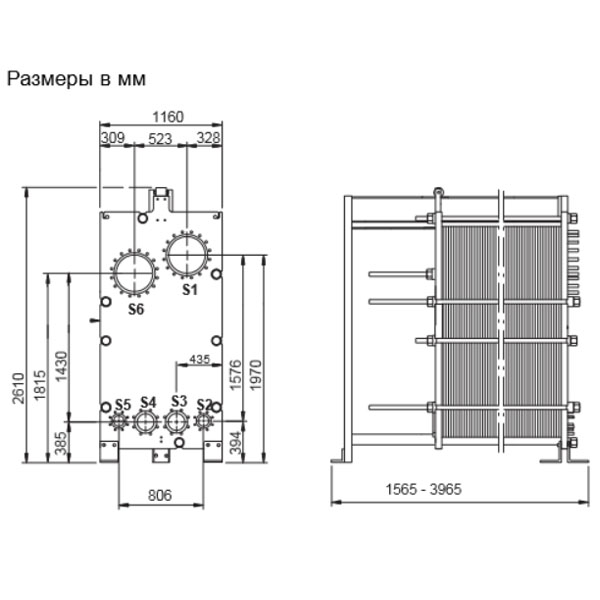 Пластинчатый разборный выпарной аппарат AlfaVap 350рис. № 2