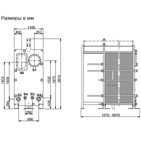 Пластинчатый разборный выпарной аппарат AlfaVap 500рис. № 2