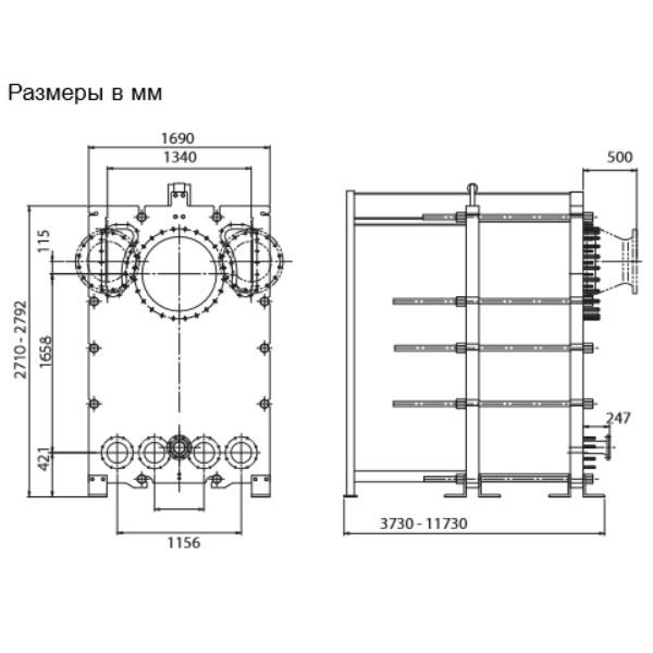Пластинчатый разборный выпарной аппарат AlfaVap 700рис. № 2