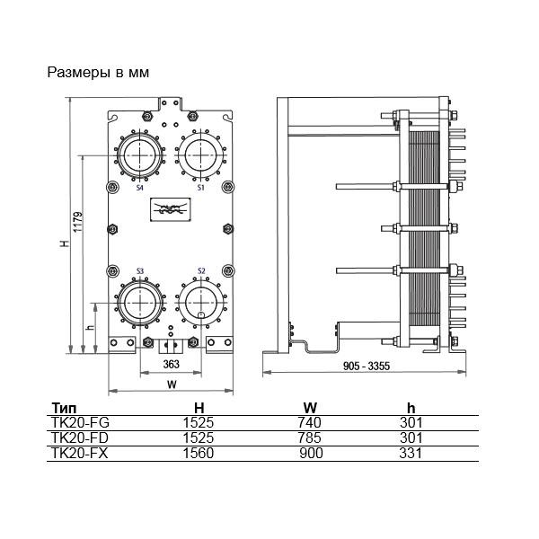 Теплообменник Alfa-Laval TK20 Wрис. № 2